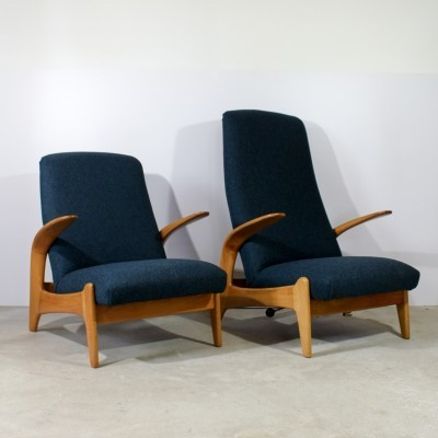 Pair of Gimson & Slater lounge chairs, 1950s