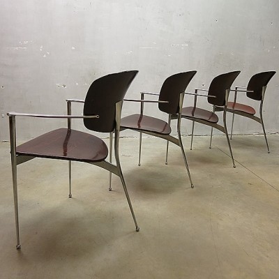 4 x Andrea dining chair by Josep LLusca for Andreu World, 1980s