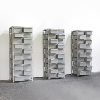 3 Industrial Design chest of drawers from the fifties by unknown designer for unknown producer