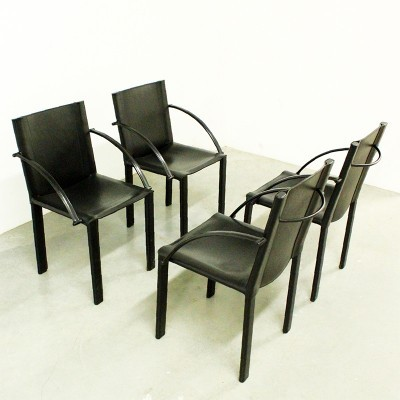Set of 4 Coral dinner chairs by Grassi Grassi for Matteo Grassi, 1980s