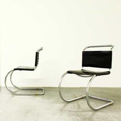 2 x MR 10 dining chair by Ludwig Mies van der Rohe, 1920s