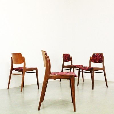 Set of 4 dinner chairs by Hartmut Lohmeyer & Margret Hildebrand for Wilkhahn, 1950s