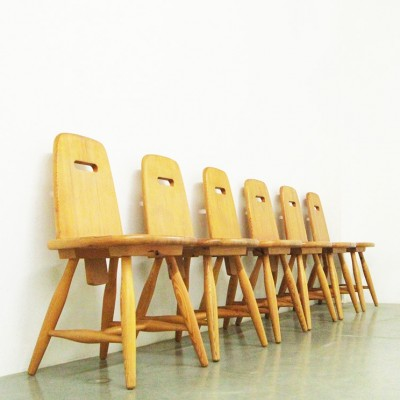 Set of 6 Pirtti dinner chairs from the sixties by Eero Aarnio for Laukaan Puu Finnland