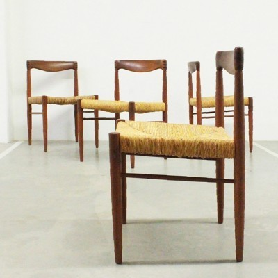 Set of 4 dinner chairs by Henry W. Klein for Bramin, 1960s
