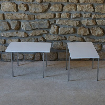 Set of 2 side tables from the sixties by unknown designer for Nicolas Rob