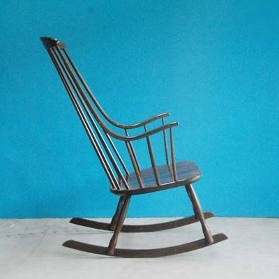 Rocking chair by Lena Larsson for Nesto, 1950s