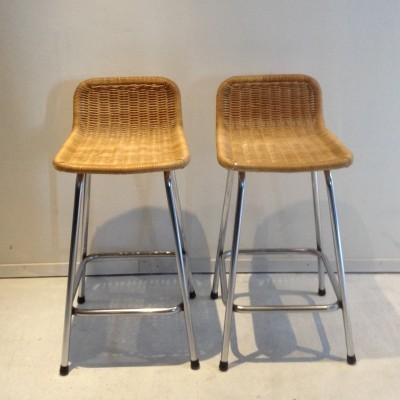Set of 2 stools from the sixties by Dirk van Sliedregt for Rohé Noordwolde