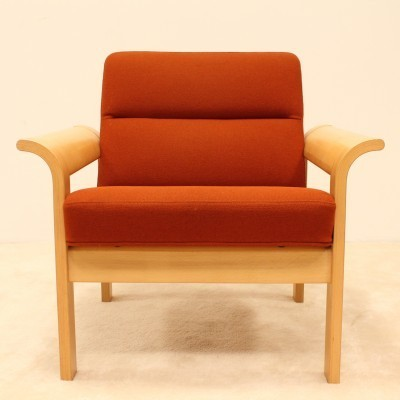 2 lounge chairs from the seventies by Rud Thygesen & Johnny Sorensen for Magnus Olesen