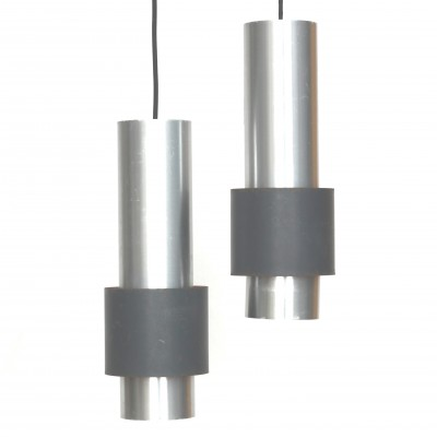 Set of 2 Zenith hanging lamps from the sixties by Jo Hammerborg for Fog & Mørup