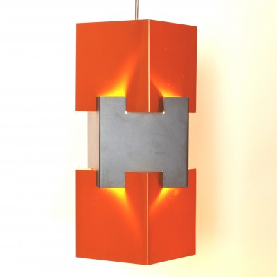 Kubus hanging lamp from the sixties by Jo Hammerborg for Fog & Mørup