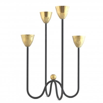 Candelabrum by Gunnar Ander for Ystad Metall, 1950s