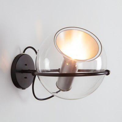 Globe (C-1512.22) wall lamp from the sixties by Frank Ligtelijn for Raak Amsterdam