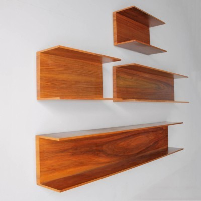Set of 7 wall units from the sixties by Walter Wirz for Wilhelm Renz
