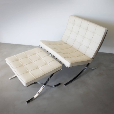 MR90 Barcelona lounge chair by Ludwig Mies van der Rohe for Knoll International, 1920s