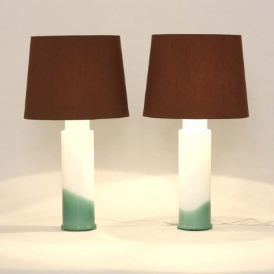 Set of 2 model 1062.38 desk lamps from the seventies by Uno Kristiansson & Östen Kristiansson for Luxus
