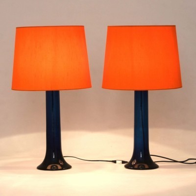 Pair of 01.1021.32 desk lamps by Uno Kristiansson & Östen Kristiansson for Luxus, 1960s