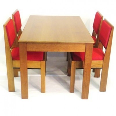 Set of 5 dining sets by J. A. Muntendam for L. O. V. Oosterbeek, 1920s