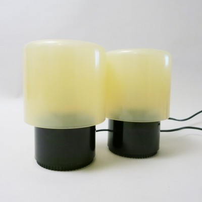 Set of 2 Tic Tac KD 32 desk lamps from the seventies by Giotto Stoppino for Kartell