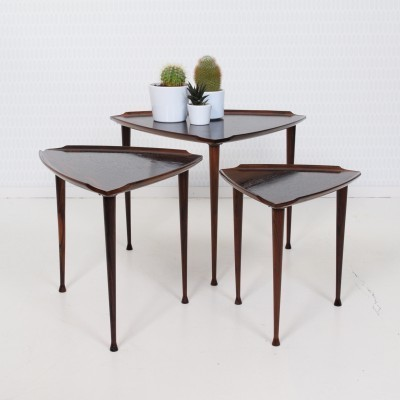 Triangles nesting table by Poul Jensen for Selig, 1950s