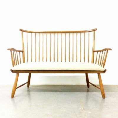 WK-S7 bench from the fifties by Arno Lambrecht for WK Möbel
