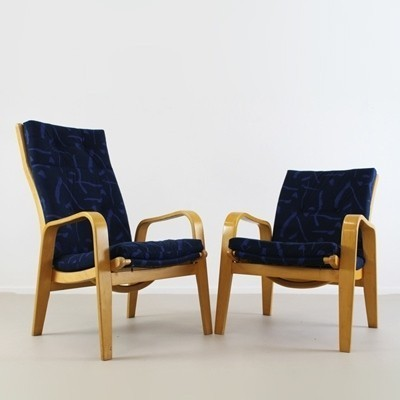 Set of 2 Arjan Series lounge chairs from the fifties by Cees Braakman for Pastoe