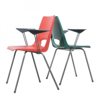 4 dinner chairs from the fifties by Philippus Potter for Ahrend de Cirkel