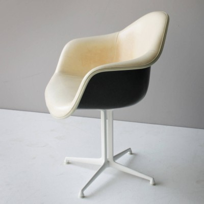 Set of 6 Plastic DAL Armchair dining chairs by Charles & Ray Eames for Herman Miller, 1960s