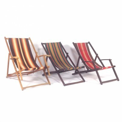 3 x Beachchairs lounge chair, 1950s