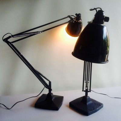 Pair of Model 1208/9 desk lamps by Herbert Terry for Anglepoise, 1940s