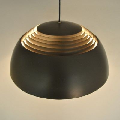 6 x 'AJ Royal' in brown by Arne Jacobsen for Louis Poulsen, 1960s