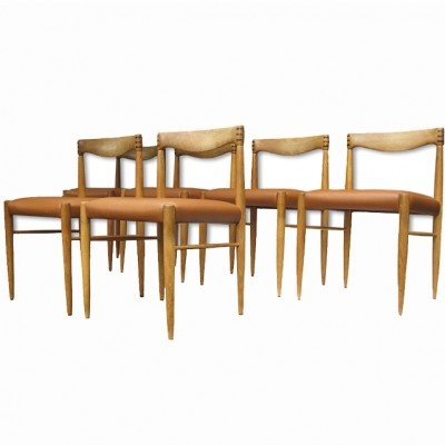 Set of 6 dinner chairs from the sixties by Henry W. Klein for Bramin