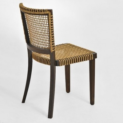2 Weaven dinner chairs from the thirties by Jan Vanek for S. B. S. Prague