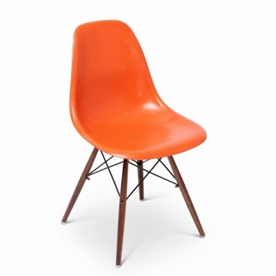 2 x DSW With Dowel Base dining chair by Charles & Ray Eames for Herman Miller, 1950s