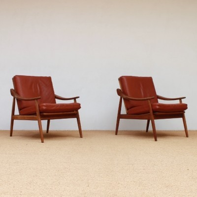 Pair of lounge chairs by Kurt Ostervig for Jason Möbler, 1950s