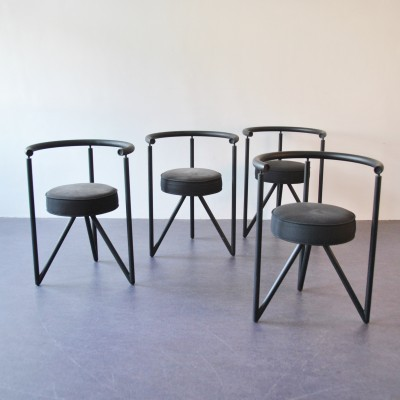 Set of 4 Miss Dorn dining chairs by Philippe Starck for Disform Barcelona, 1980s