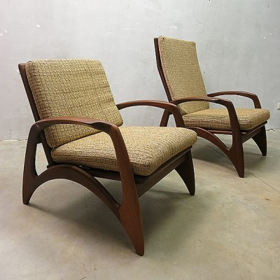 Pair of De Ster lounge chairs, 1950s