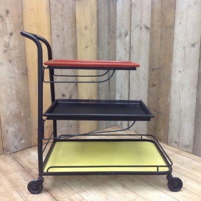 Demon serving trolley from the fifties by Mathieu Mategot for Artimeta
