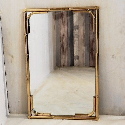 Faux Bamboo mirror by Maison Baques, 1970s