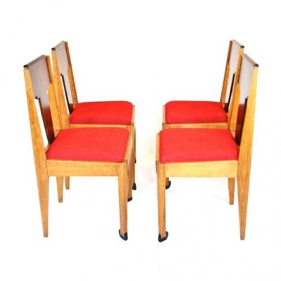 Set of 4 dining chairs by Jac. Zijfers for J. J. Zijfers & Co, 1930s