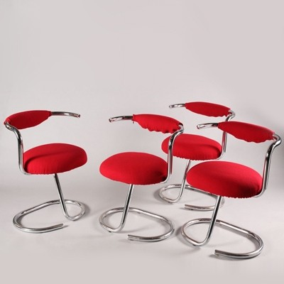 4 x Giotto Stoppino dinner chair, 1970s