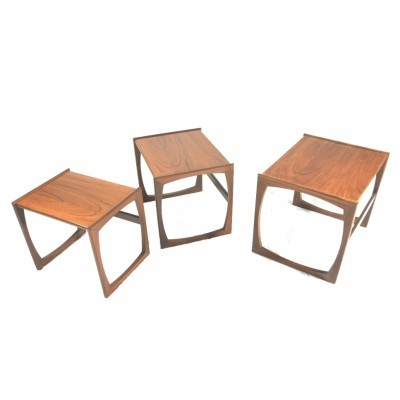 3 Quadrille Series nesting tables from the sixties by unknown designer for G plan
