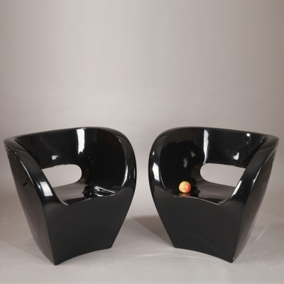 Set of 2 Little Albert lounge chairs from the nineties by Ron Arad for Moroso Italy