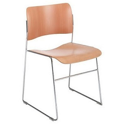 2 x 40/4 Stacking Chairs dining chair by David Rowland for Howe
