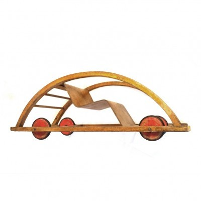 Rocking Car / Schaukelwagen children furniture from the fifties by Hans Brockhage for Siegfried Lenz