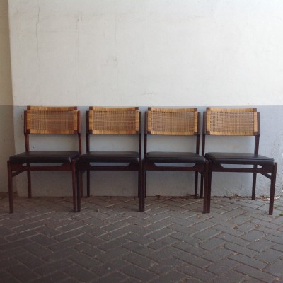 Set of 4 Metaform dining chairs, 1960s