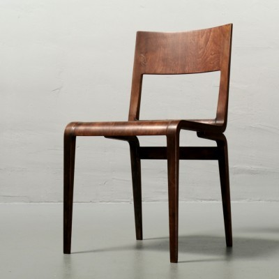Model 50642 dining chair by Erich Menzel for DeWe Deutsche Werkstätten, 1950s