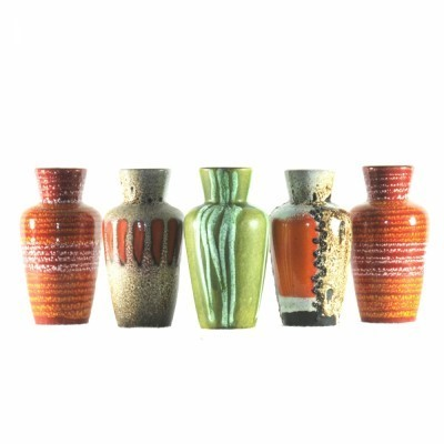 5 x West Germany vase, 1960s