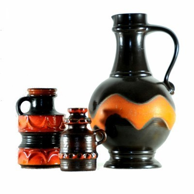 3 x West Germany vase, 1970s