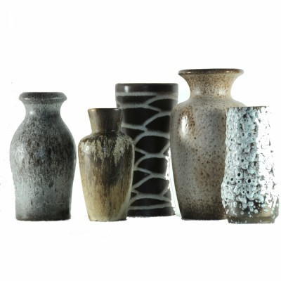 Set of 5 West Germany vases, 1960s