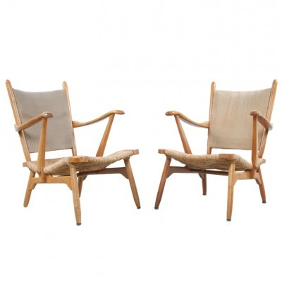 Set of 2 De Ster Fauteuils lounge chairs from the fifties by unknown designer for Gelderland